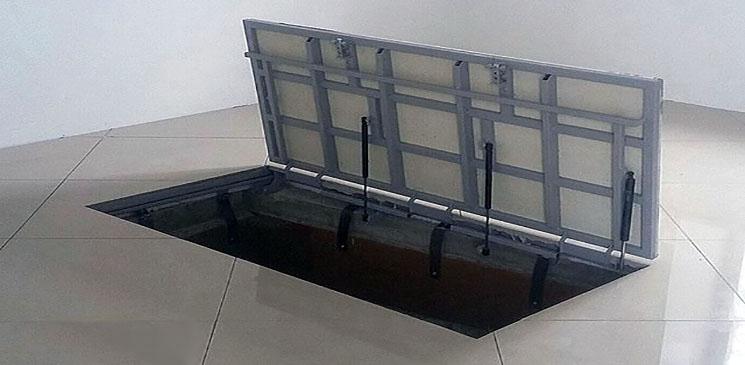 Пример самодельного подвального люка